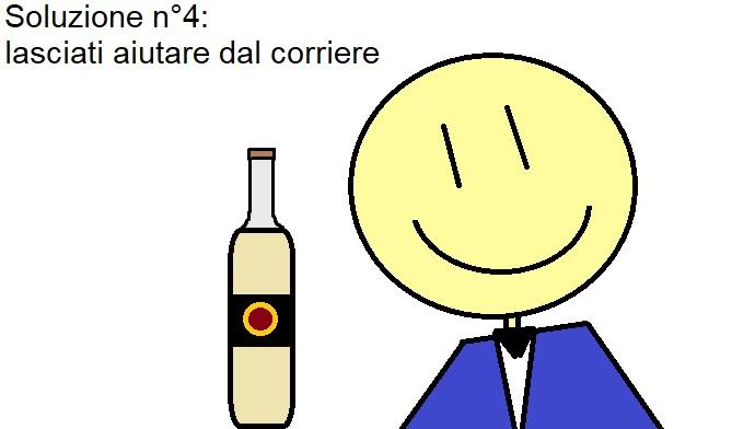 Come imballare le bottiglie di vino con aiuto del corriere